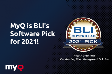 MyQ X: Enterprise Receives BLI 2021 Software Pick Award